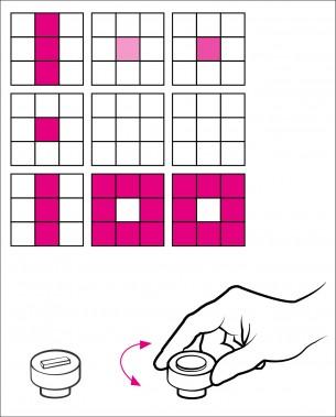 Maria M. Haasis | Software and Hardware Sketching  Tic Tac Toe – Drei gewinnt – XXO – Noughts and Crosses,  viele Namen aber das gleiche Spiel, das eigentlich jeder schonmal gespielt hat und auch schon Jahrhunderte vor uns gespielt wurde. 3 mal 3 Spielfelder ermöglichen insgesamt 255168 verschiedene Spielverläufe, in denen es dann doch nur darum geht, dass einer der beiden Spieler drei der Spielsymbole nebeneinander oder diagonal setzt um zu gewinnen. Mit meiner 9 mal 9 LED-Matrix möchte ich ein altes Spiel mal auf eine andere Art spielbar machen.