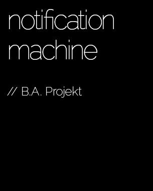 In diesem Projekt begeben wir uns auf die Suche nach Anwendungsgebieten und Situationen, bei denen es sinnvoll erscheint, Informationen / Nachrichten eines bestimmen Internetdienstes (wie beispielsweise Twitter, Skype oder Facebook) mit Hilfe eines interaktives Objektes zu kommunizieren. Der Fokus dieses Projektes liegt dabei im Interaction Design, also darin, ein gewünschtes »Erlebnis« des Benutzers mit dem Objekt (bzw. der Information) zu kreieren.  // Tomek Ness