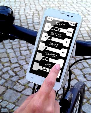 // Mit dem E-Bike befindet man sich ständig auf der Überholspur und kann ohne große Anstrengung weite Strecken hinterlegen. Die Bedienbarkeit bleibt dabei so leicht wie Fahrrad fahren. easyRide ist ideal für E-Bike Fahrer mit einem engen Terminplan sowie für chronische Zuspätkommer. Die App berechnet die genaue Ankunftszeit und hilft dem Nutzer durch eine intelligente Weckfunktion dabei pünktlich loszufahren. Zusätzliche Features, wie eine Navigationshilfe oder eine automatische Gangschaltung erleichtern das Fahren zudem. Entspannt, schnell und einfach.  Dafür steht easyRide.  // Nadja Rauch // BA 3. Semester ID