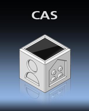 """// CAS steht für die Abkürzung """"Communication Aid Speaker"""". Der Kommunikator soll Kindern mit Problemen und Krankheiten die das Sprachvermögen einschränken helfen um mit anderen zu Kommunizieren. CAS ist ein 4x4 cm großer Würfel, der auf vier Seiten unterschiedliche Kategorien besitzt. Kinder können mittels des touch display ein beliebiges Bild aus den zuvor gewählten Kategorien auswählen. Beim Berühren des Bildes redet CAS für das Kind, so dass es eine Erweiterung beim Kommunizieren für das Kind ist.  // Leitung: Prof. Jens Wunderling // Josephin Klamet, Zitong Li // MA 1. Semester ID"""