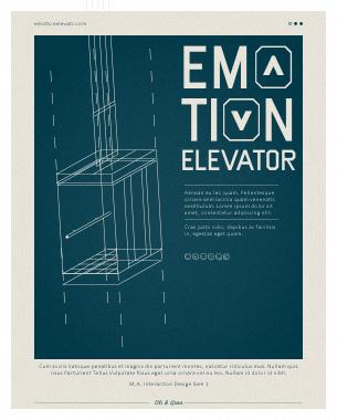 // Der Emotion Elevator ist ein Minimales Kommunikationstool um öffentliche Räume wie Fahrstühle zum Ort für den emotionalen Austausch von Passanten zu nutzen. Damit werden Aufzugfahrten nicht nur kurzweiliger, sondern den Fahrgästen wird auch die Möglichkeit geboten ihre Stimmung auszudrücken. So könnte nicht nur Schmierereien und Vandalismus vorgebeugt werden, sondern sogar der Austausch zwischen den Bewohnern und Stimmung im Haus verbessert werden.  // Leitung Prof. Jens Wunderling  // Qian Liu, Oliver Köbler // M.A. Interaction Design Sem 1