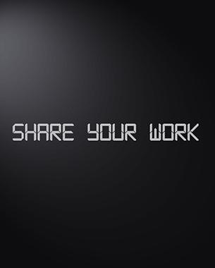 """// Share your Work zielt darauf ab, die Kommunikation Erfahrung in der digitalen Welt auf den realen Raum zu bringen. Durch dieses Projekt Menschen kommunizieren über Platten in den öffentlichen Bereichen. Sie teilen Bilder, die """"Artworks"""" oder ein andere Art von Nachrichten sind. Während der Darstellung der Bilder wählen andere Leute, damit sie mehr oder weniger Zeit bleiben. Die erwartete Ergebnisse des Projekts-Experiment ist ähnlich zu dem, was passiert in der Kommunikation über das Internet.  //Renato Correira"""